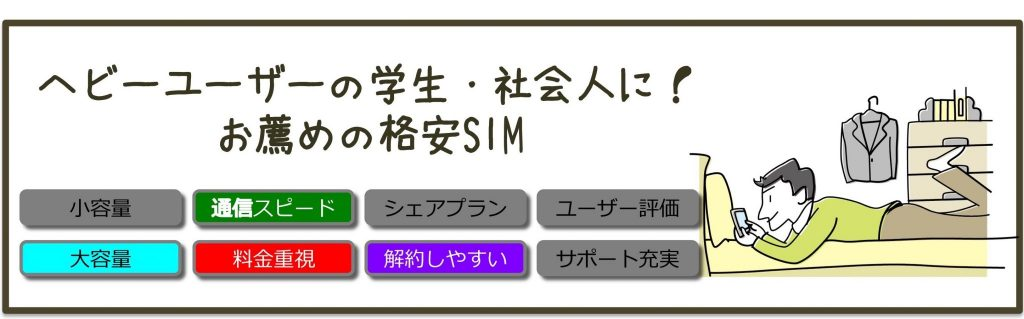 【簡単診断】あなたにぴったりのおすすめ格安SIMは?
