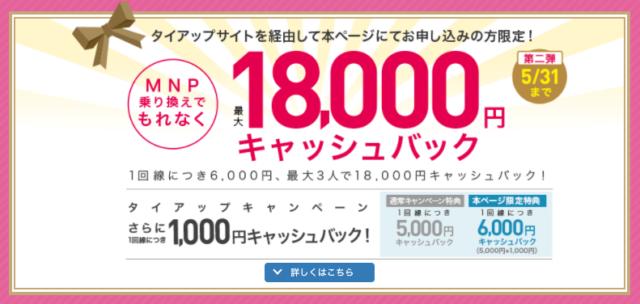 【実施中】MNP乗り換えで最大18,000円キャッシュバック✨(当サイト限定)