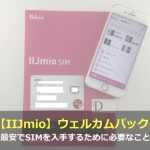 【IIJmio】ウェルカムパックなら最安でSIMを入手できる!