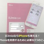 まとめ:IIJmioならiPhone・iPadも利用可能