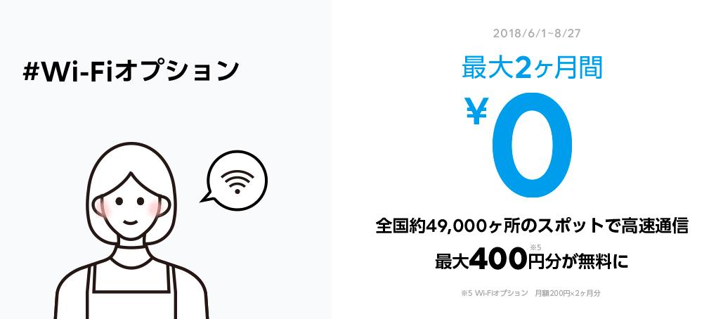 LINEモバイルWiFIオプション無料キャンペーンの詳細