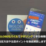 まとめ:BIGLOBEモバイルならテザリングが無料で利用できる!