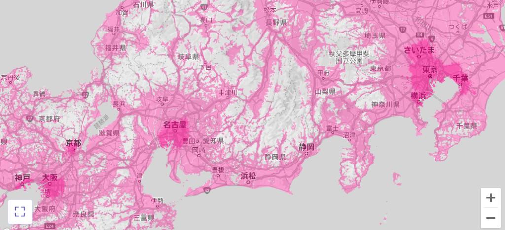 【③エリア】楽天モバイルは都市部のみ…でもau回線も無料で使える!