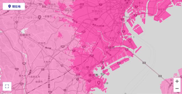 23区南側(神奈川県)のエリア ※2020年4月8日現在